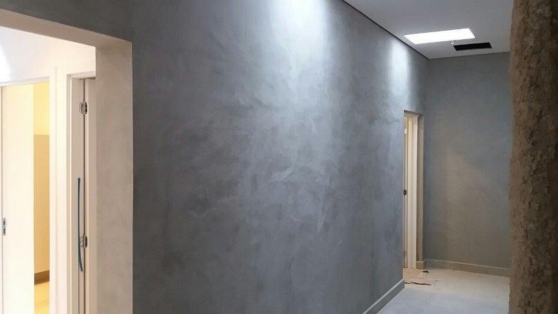 Cimento queimado pronto para parede